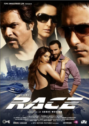 Poster of Race 2008 Full Hindi Movie Download BRRip 720p Watch Online In Hd
