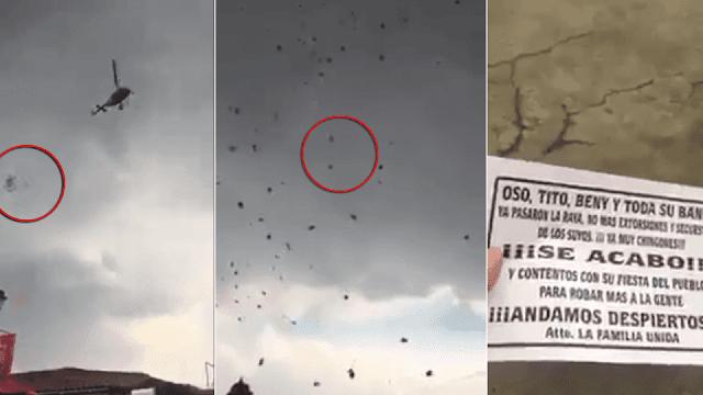 """Helicóptero con """"narcovolantes"""" es propiedad de una empresa ligada a Javier Duarte"""