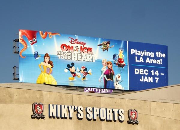 Disney on Ice 2017 billboard