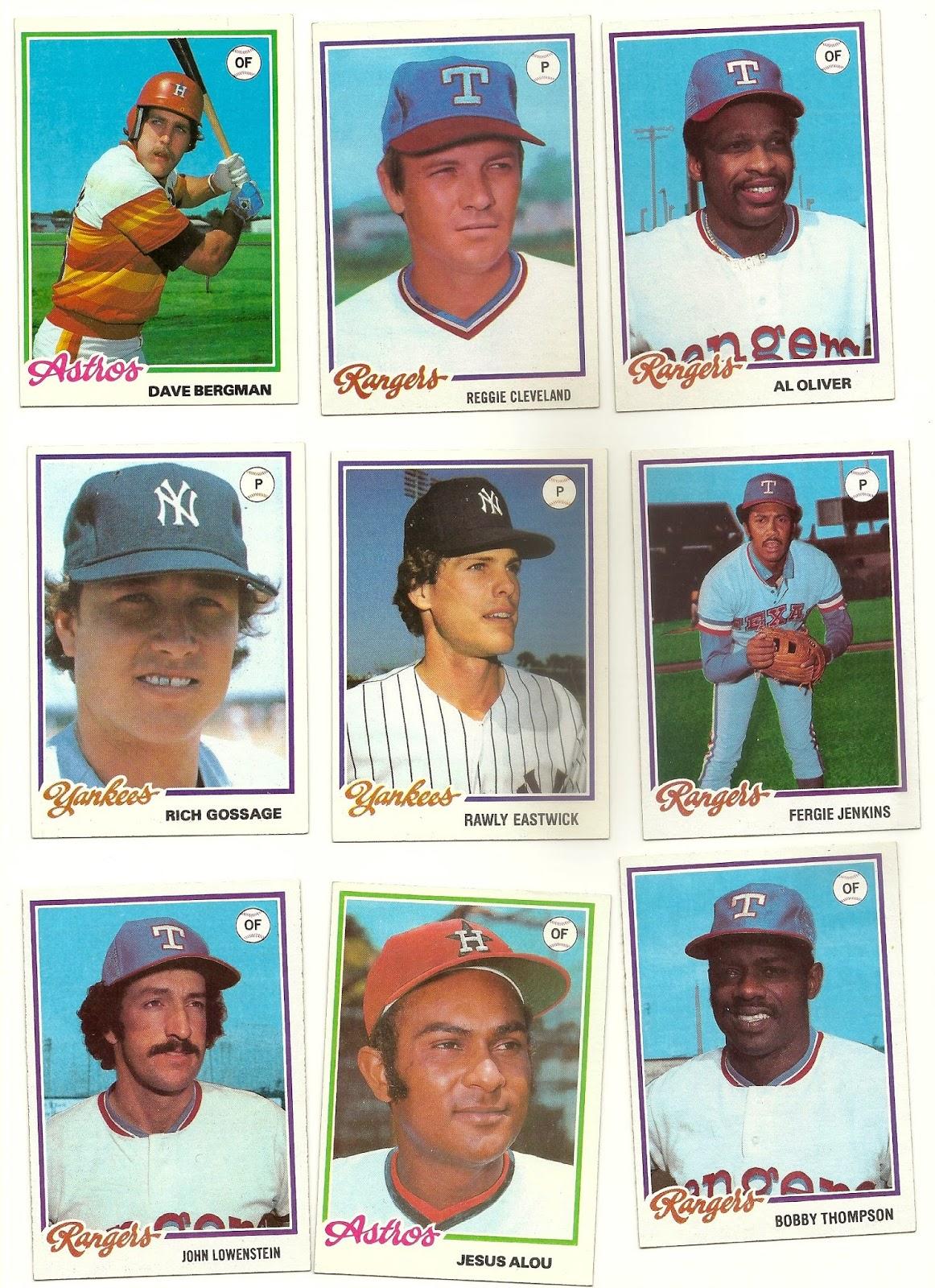 The Baseball Card Blog 1978 Topps Master Set Highlights