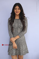 Actress Chandini Chowdary Pos in Short Dress at Howrah Bridge Movie Press Meet  0013.JPG
