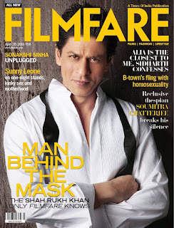 Shah Rukh Khan for Filmfare Magazine Cover Page April 2016