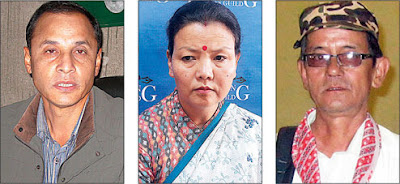 NB Khawash, Sharda Rai Subba and Milan Dukpa
