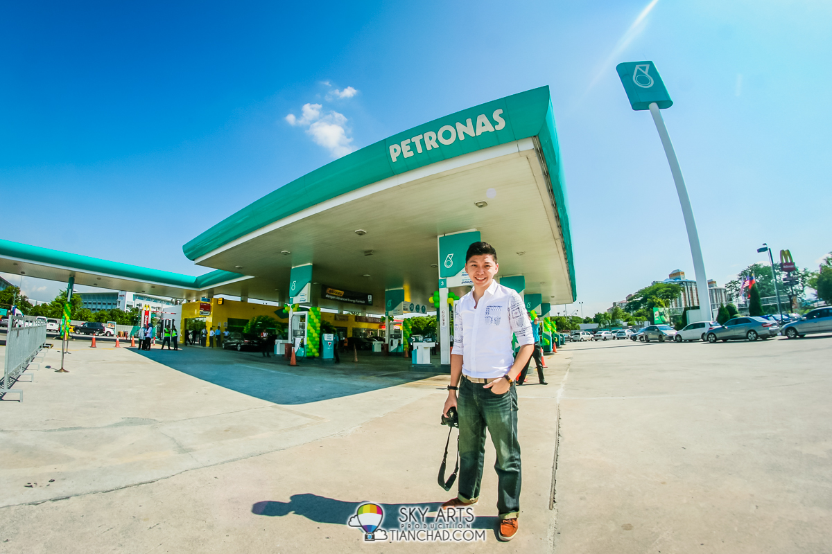 It was a sunny day at PETRONAS Station @ Technology Park Malaysia