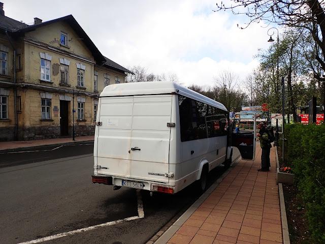 Bus na Palenicę na dworcu w Zakopanem