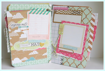 SRM Stickers Blog - 2016 Planner/Date Book by Shannon - #2016 #planner #minialbum #stickers #stickerstitches #calendarmonths #doilies #twine #punchedpieces
