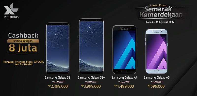 XL Promo Samsung Spesial Kemerdekaan RI Cashback Sampai 8 Juta