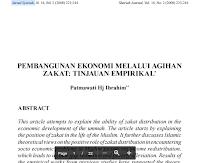 Contoh Jurnal Syariah Pembangunan Ekonomi Melalui Agihan Zakat Pdf Download