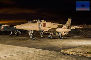 RAF SEPECAT Jaguar XX725 bomber ground attack Cosford DOTA