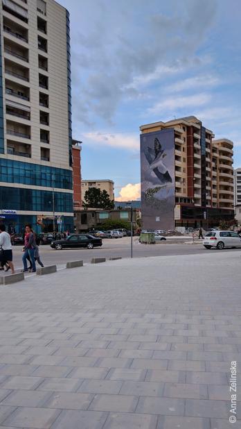 Мурал в городе Влоре, Албания