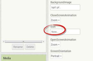 Cara Menambahkan Gambar Icon Aplikasi Android di MIT App Investor 2 (AI2) [default]