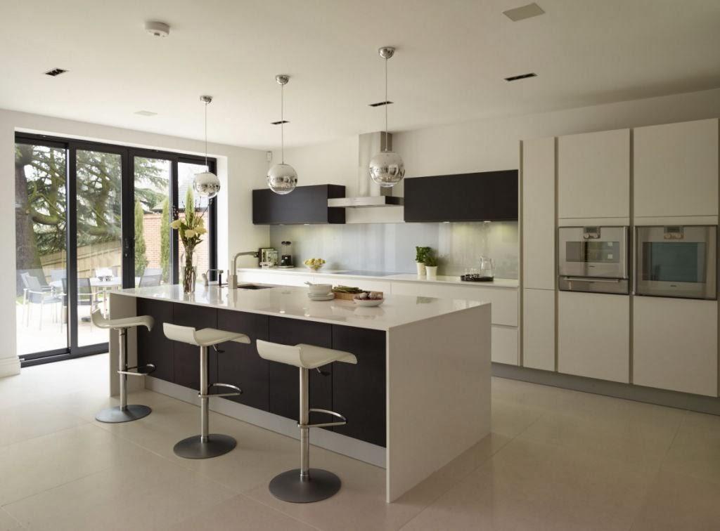 Un dise o actual que no sacrifica la funcionalidad for Cocinas modernas en gris y blanco
