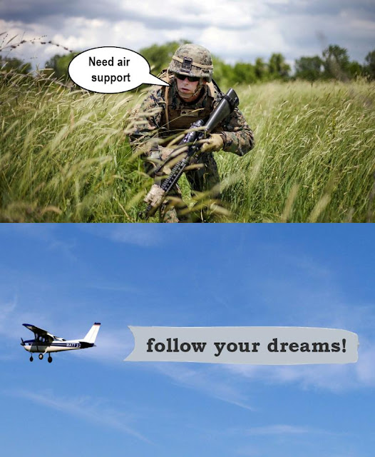 Funny Need Air Support Army Picture