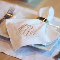 cloth napkin on plate