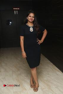 Actress Jyo Stills in Black Short Dress at Dwaraka Movie Audio Launch 0002