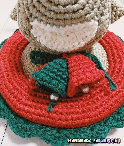 Рождественский олень - детское панно крючком (7)