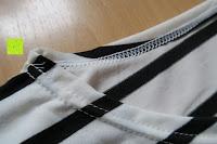 Kragen: Yidarton Damen Rundhals Gestreift Stretch Basic T-Shirt Oberteile Langarmshirt Loose Bluse Tops