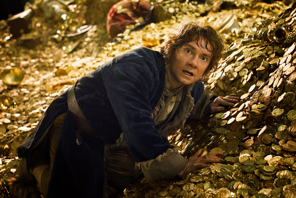 The Hobbit. Bilbo in Smaug's cave