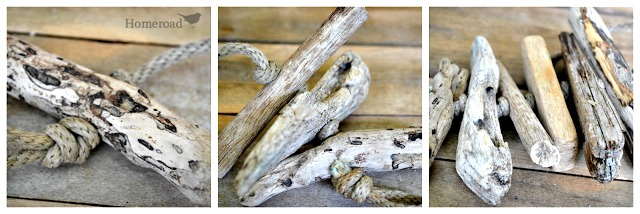 create a wind chime with these gorgeous pieces of driftwood. homeroad.net