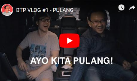 Inilah Channel Youtube Ahok (Vlog Btp) Resmi