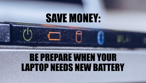 Replace laptop old battery to save money