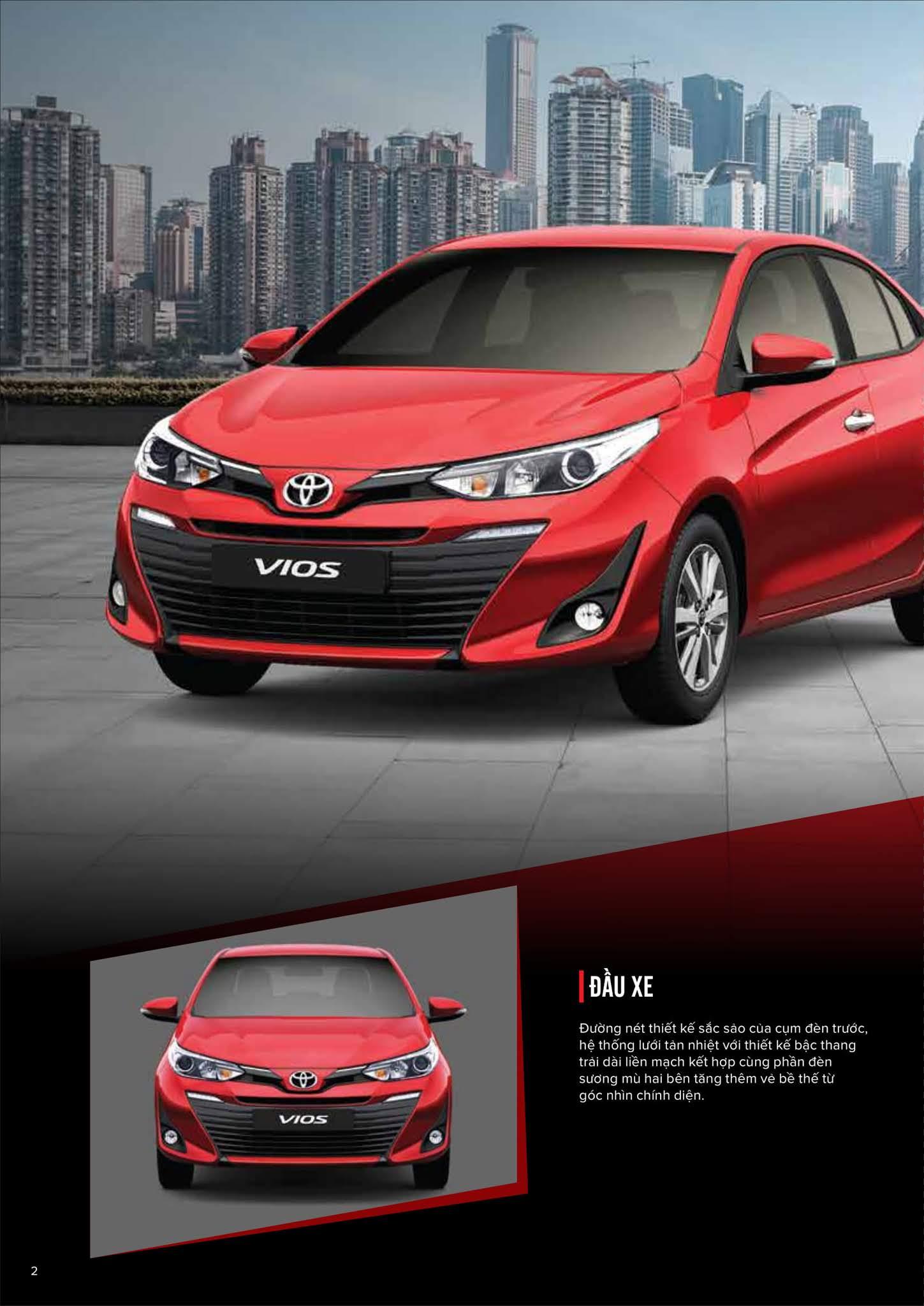 Bảng thông số kỹ thuật Toyota Vios 1.5G CVT 2019