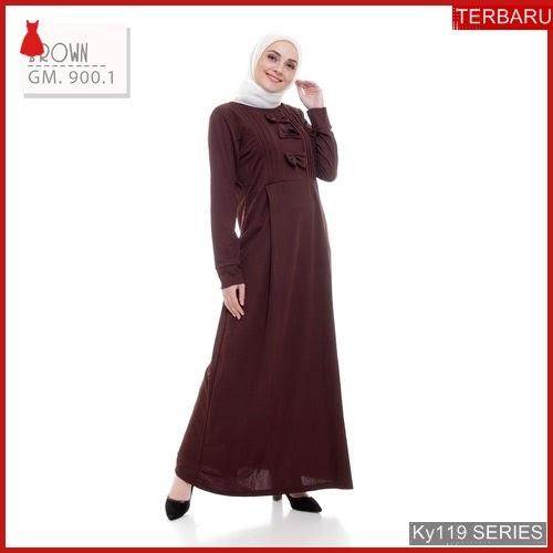Ky119g57 Gamis Muslim Haniffa Murah Dress Bmgshop Terbaru