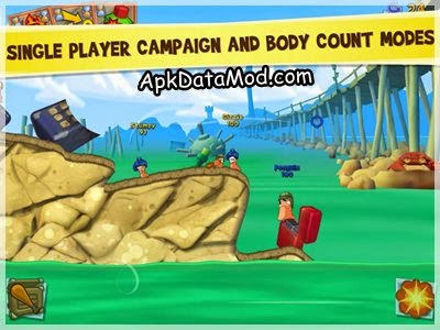 Worms 3 Apk single player