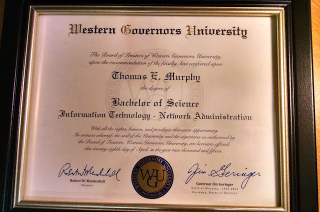 My degree is here! Woohoo!