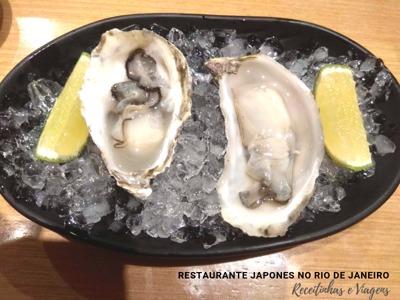 Restaurante japonês Rio de Janeiro com ostras frescas e muito peixe fresco