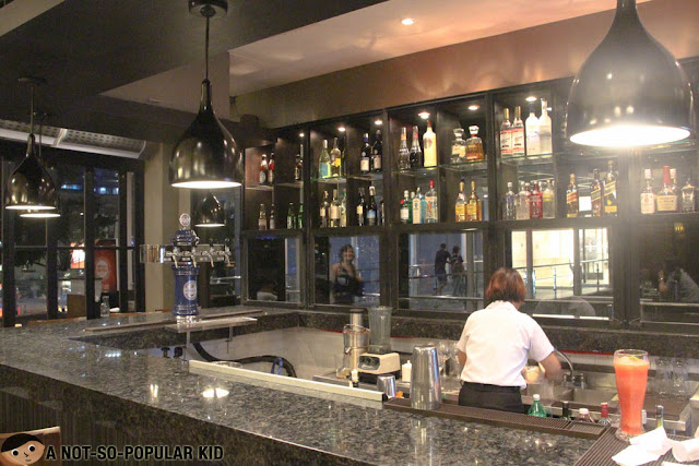 The bar area of Village Tavern, BGC, Taguig