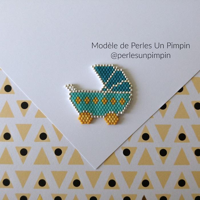 landau perles un pimpin, tissage brickstitch, perles delicas miyuki, hellocestmarine
