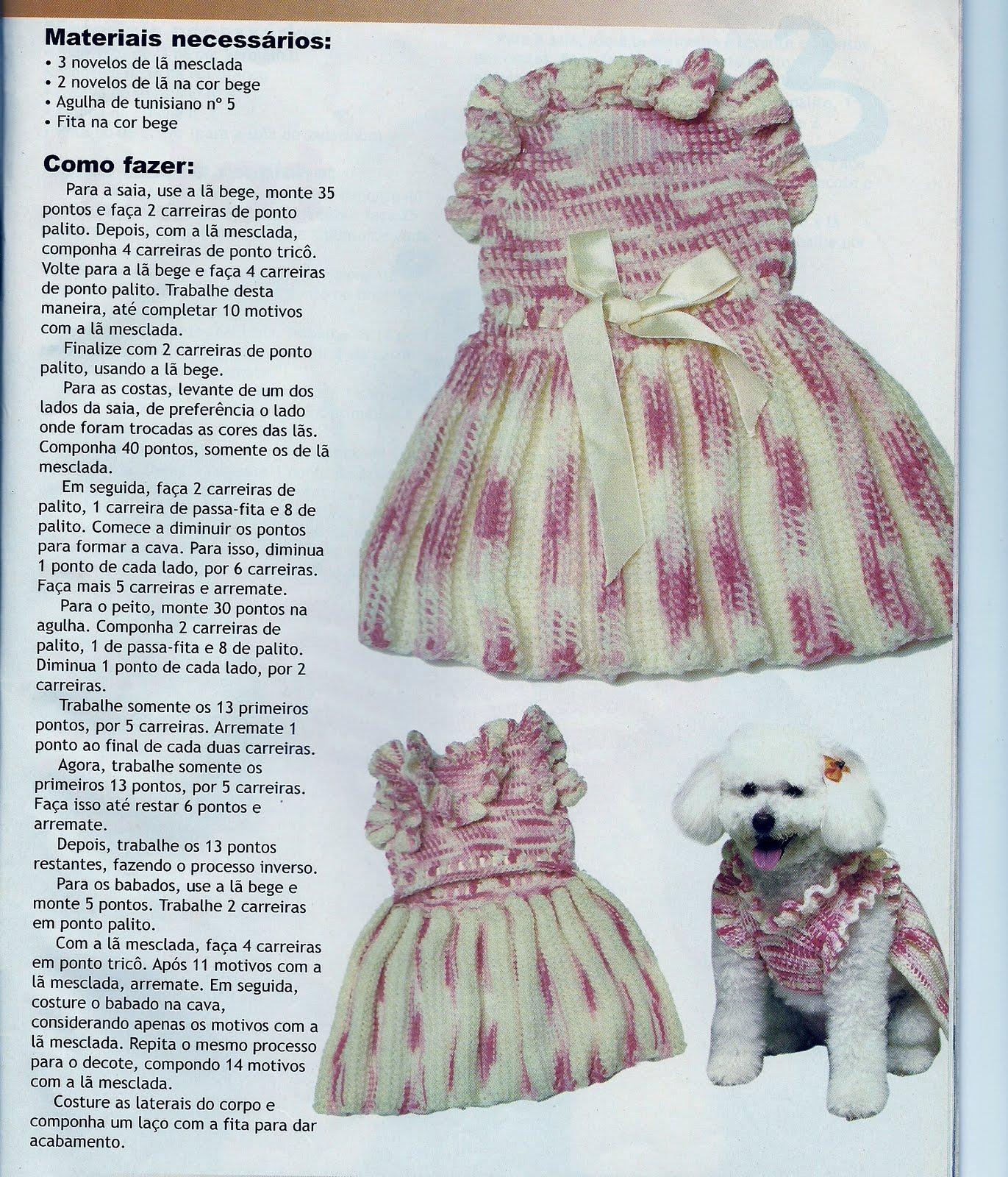 Bolsa Para Carregar Cachorro Em Croche : De tudo um pouco roupinhas para c?es em croch?