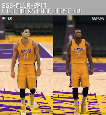 DNA Of Basketball | DNAOBB: NBA 2K17 Los Angeles Lakers Home Jersey v1 by MLLR