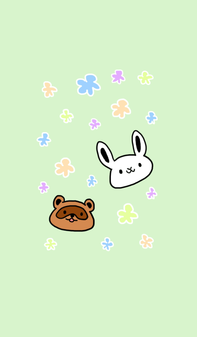 Rabbit and raccoon dog