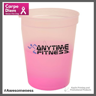 Promotional Pink Plastic Mood Cups
