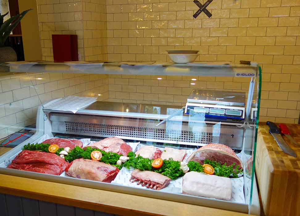 Meat Counter at The Station Inn