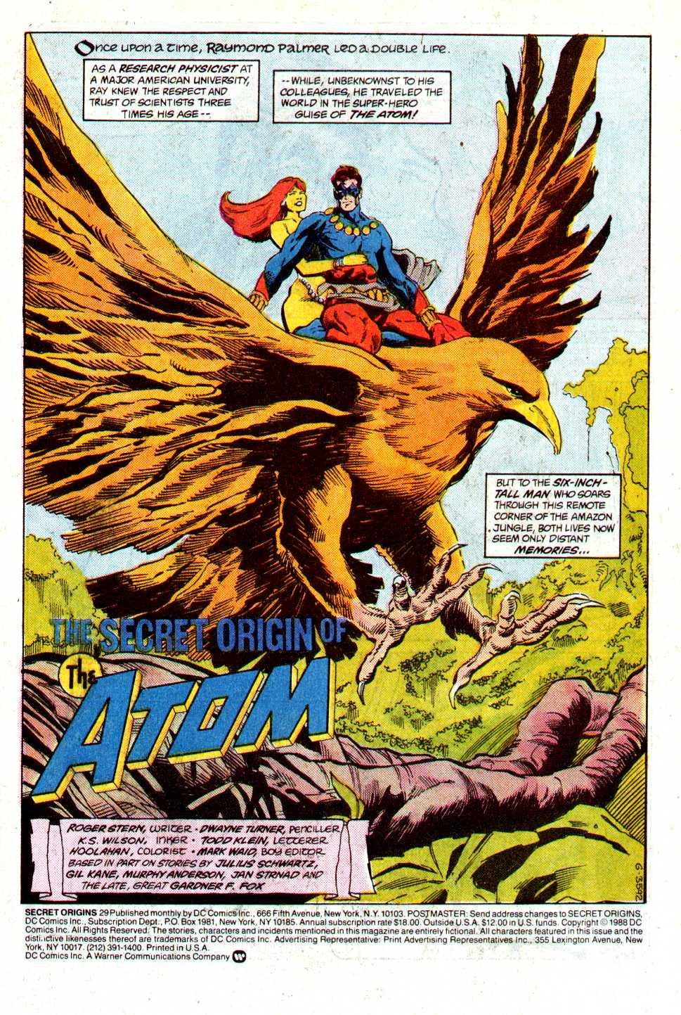 Read online Secret Origins (1986) comic -  Issue #29 - 2