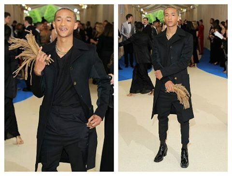 Jaden Smith carried his old hair to Met Gala 2017 as his date