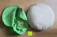 Bezug und Kissen: Yogakissen »Brahman« mit Reißverschluss & Bio-Dinkelspelz (kbA) Füllung - Maße: ca. 42 x 15 cm - ideal als Zafukissen / Meditationskissen / Rondokissen / Meditiationsunterlage :: waschbarer Bezug / hoher Sitzkomfort - hoher Sitz-Komfort dank Dinkelspelzfüllung / maschinenwaschbar & hautfreundlich. Ideale Hilfsmittel / Accessoire (Sitzkissen) für längere Meditationen. Material : 100% Baumwolle