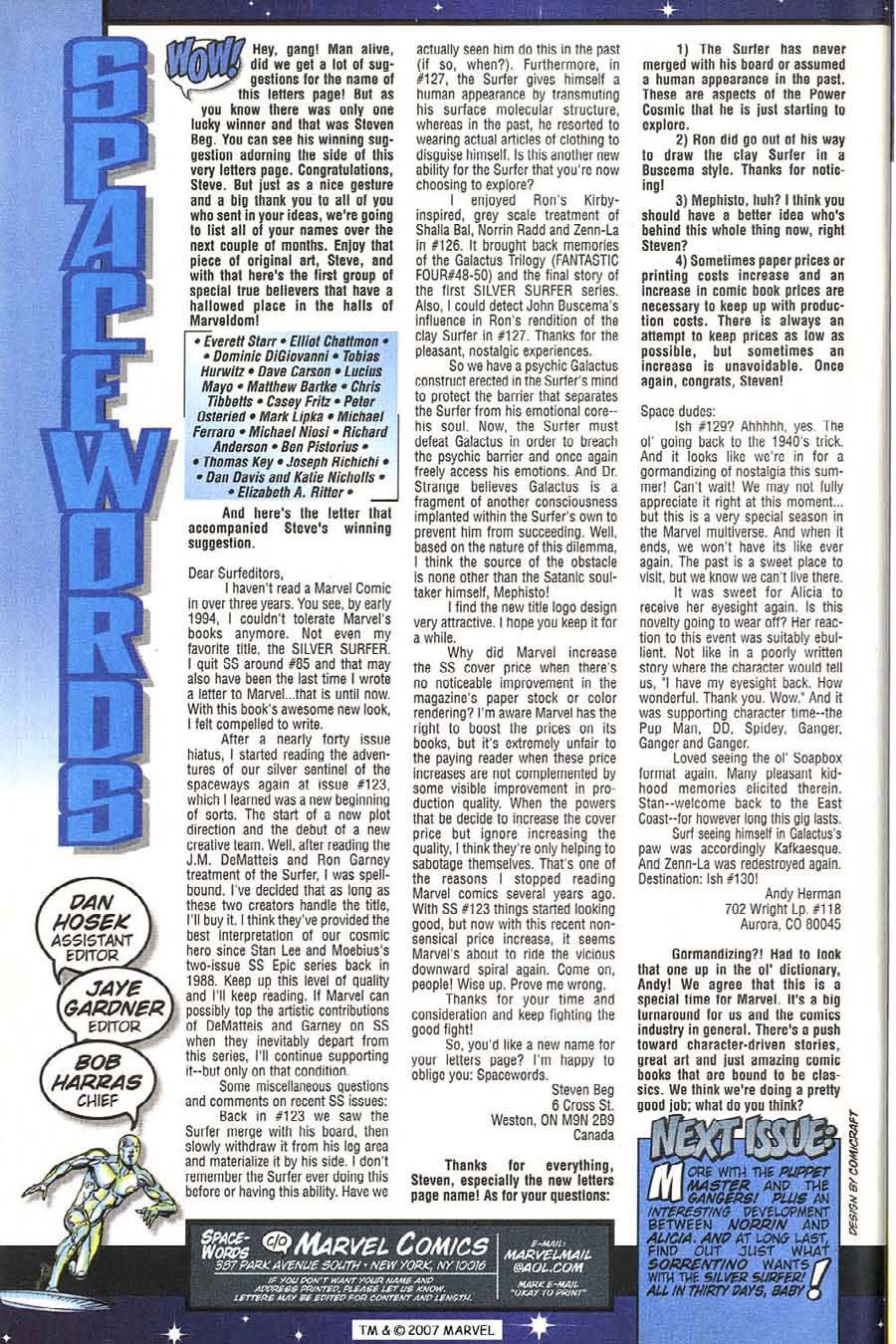 Read online Silver Surfer (1987) comic -  Issue #131 - 36
