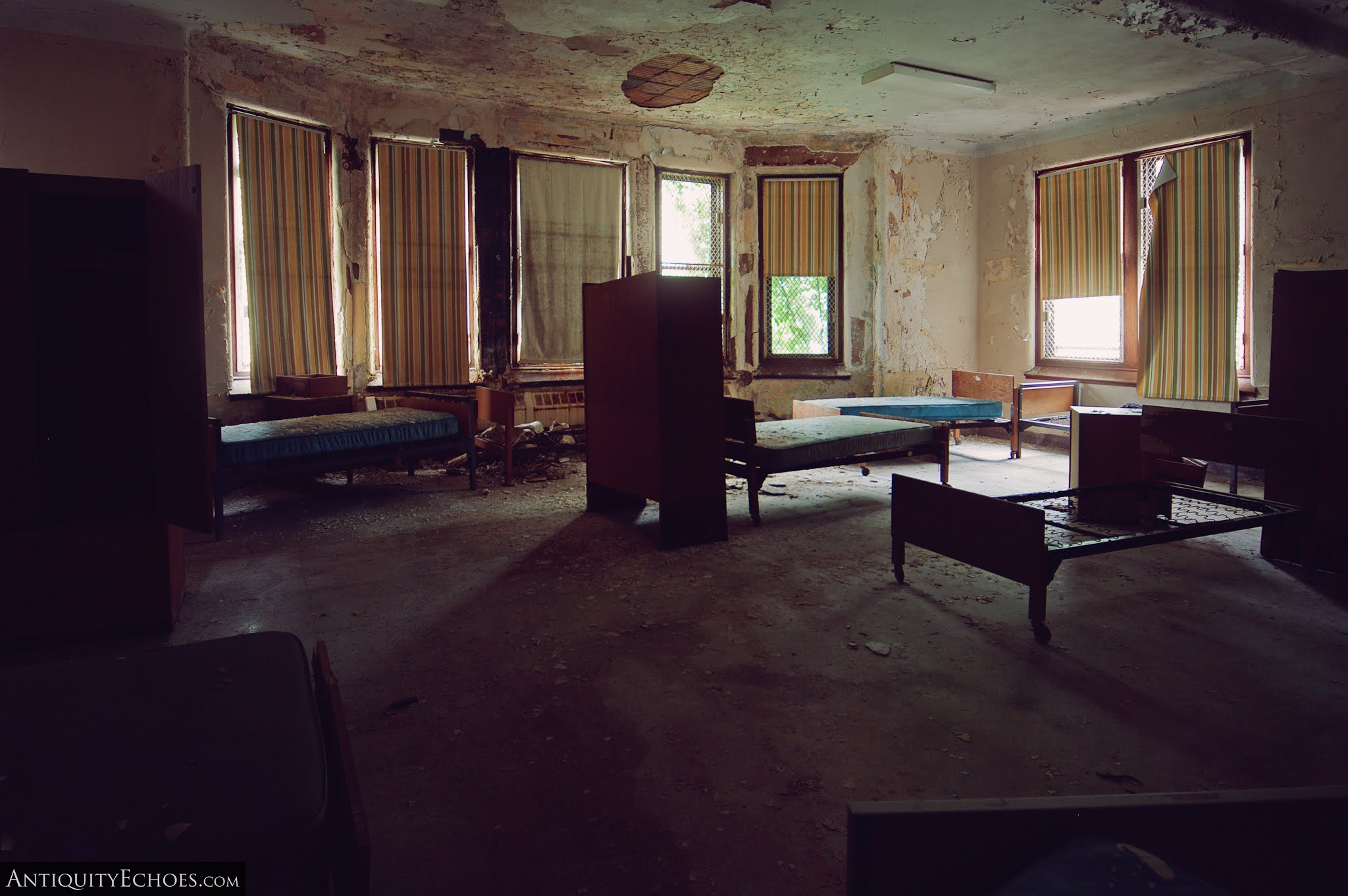 Overbrook Asylum - Dayroom Converted to a Mass Bedroom