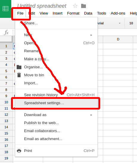 Google Sheet: How to perform spelling check in other language