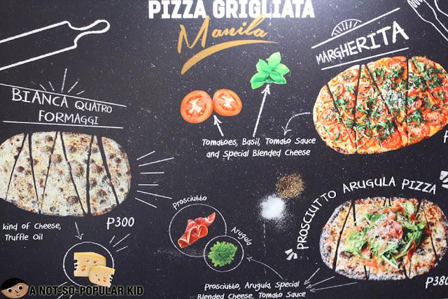 Pizza Grigliata Manila - Menu