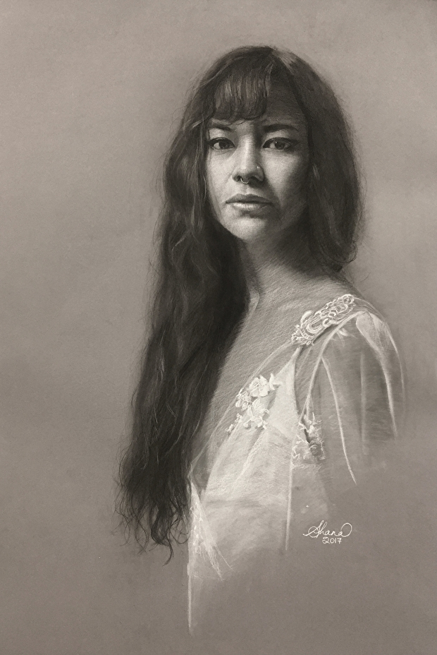 06-Shana-Levenson-Charcoal-Portraits-on-Paper-Inspired-by-Nostalgia-www-designstack-co