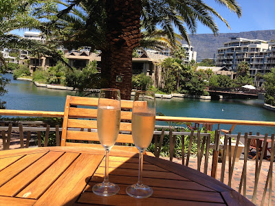 2 glasses of Champagne, relaxing, One&Only Cape Town