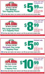 graphic regarding Papa Johns Printable Coupons identified as Papa johns pizza discount codes canada - Insane 8 printable coupon codes