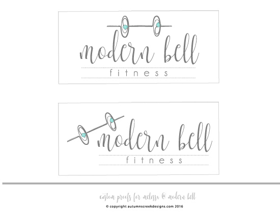 autumns creek designs custom fitness logo personal trainer logo