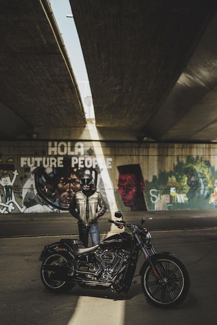 Hola Future People. Harley Davidson 2018 by Benedict Campbell