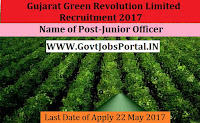 Gujarat Green Revolution Limited Recruitment 2017– Junior Officers